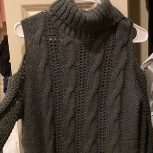 American eagle knitted grey sweater